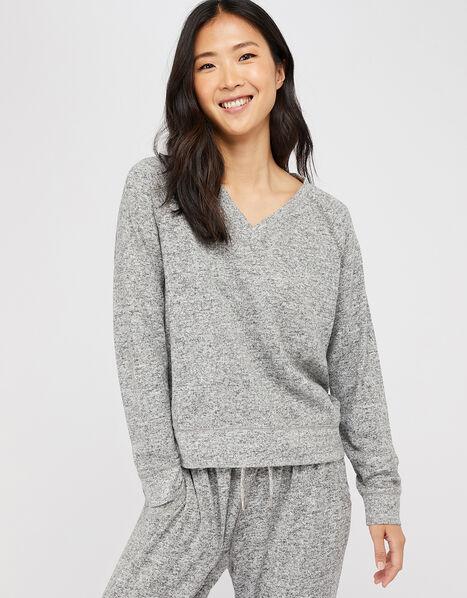 Grey Marl Sweatshirt Grey, Grey (GREY), large