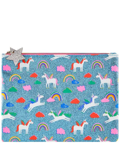 Glitter Unicorn Pencil Case, , large