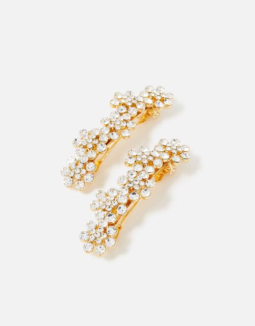 BRIDAL Embellished Floral Barettes, , large