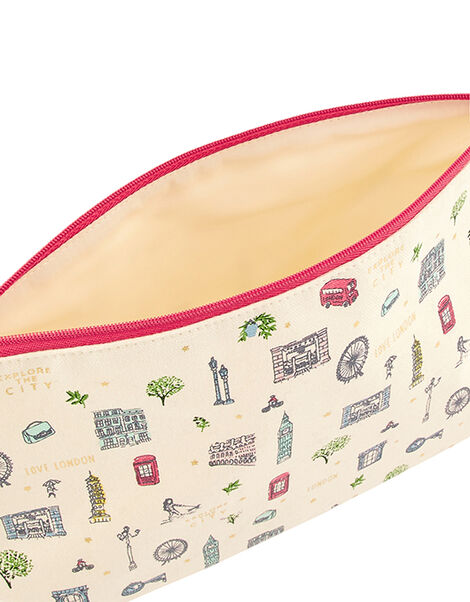 All Over London Cotton Washbag, , large