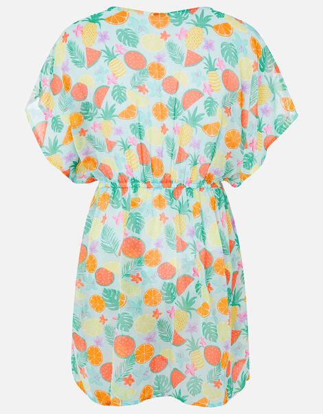 Fruit Print Kaftan Dress Multi, Multi (BRIGHTS-MULTI), large