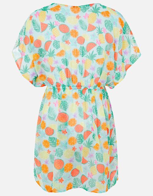 Girls Fruit Print Kaftan Dress, Multi (BRIGHTS-MULTI), large