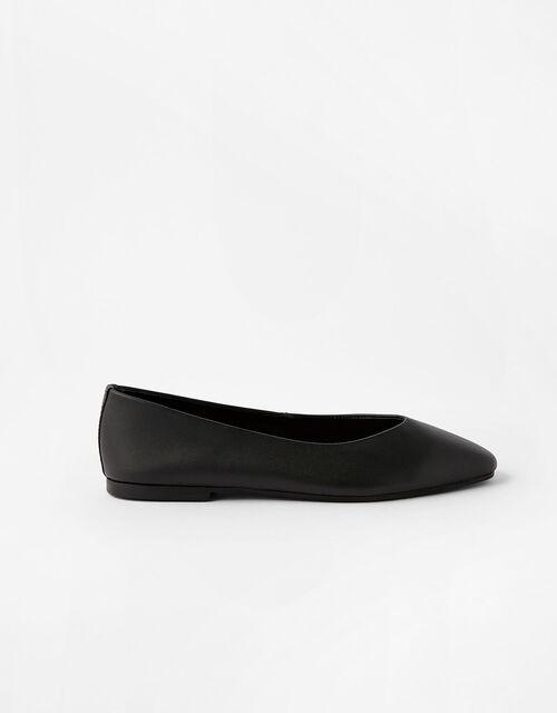 Super-Soft Leather Loafers, Black (BLACK), large
