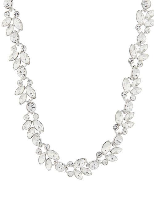 Harriet Crystal Flower Collar Necklace, , large