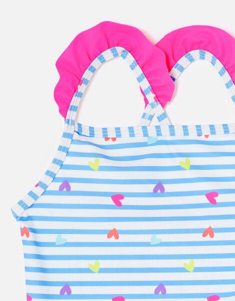 Heart Print Swimsuit Multi, Multi (BRIGHTS-MULTI), large