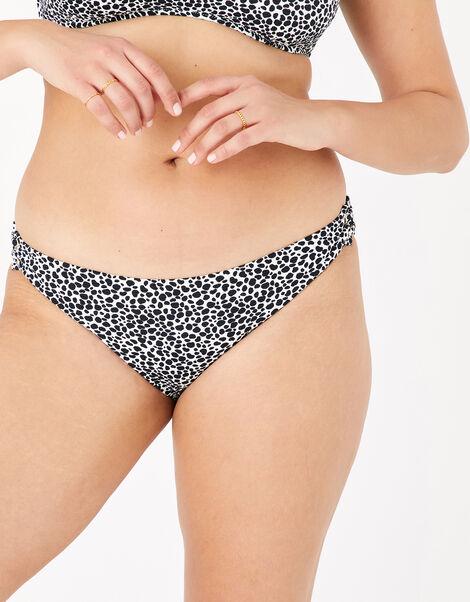 Eyelet Printed Bikini Briefs Black, Black (BLACK/WHITE), large