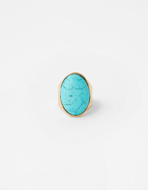 Statement Turquoise Ring, Blue (TURQUOISE), large