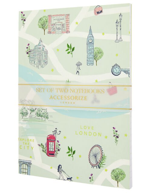 2x London Printed Notebooks, , large