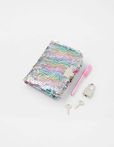 Mini Reversible Sequin Notebook, , large