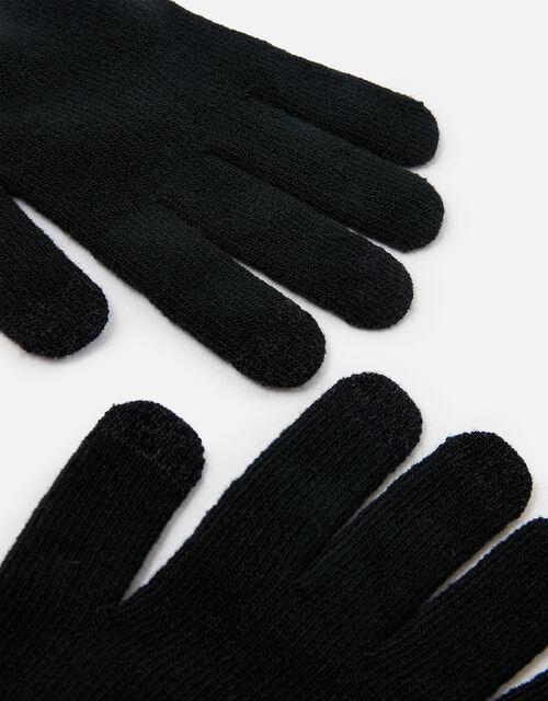 Super-Stretchy Touchscreen Gloves, Black (BLACK), large