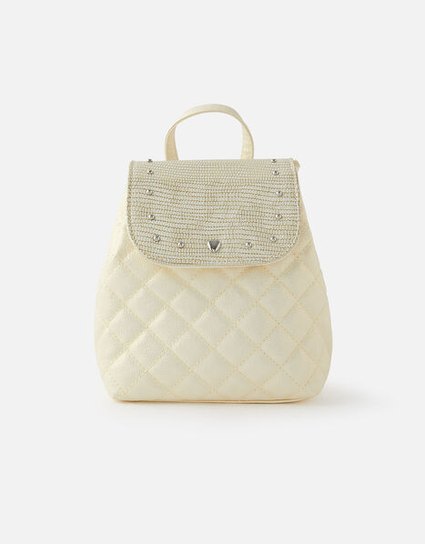Stud Quilted Backpack, , large