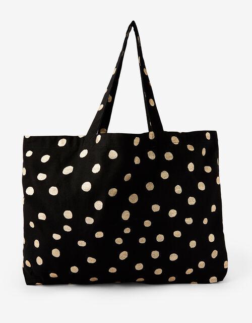 Polka Dot Shopper Bag, , large