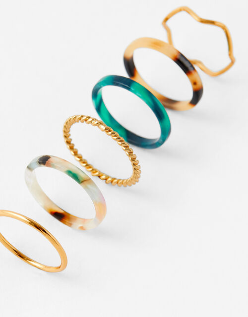 Resin Ring Set, Multi (DARKS-MULTI), large