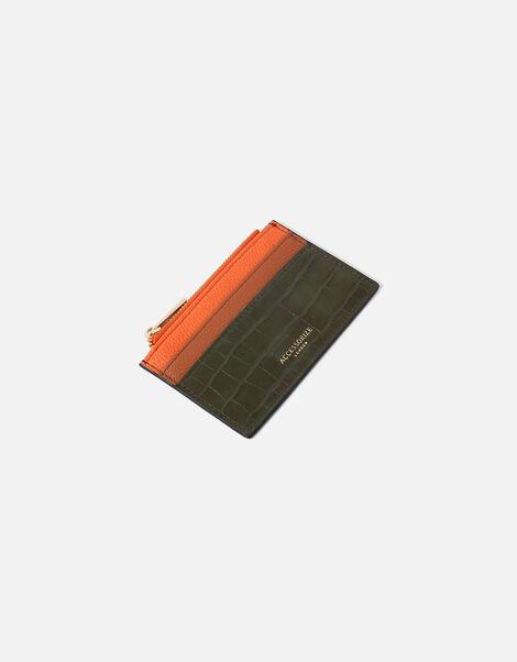 Colourblock Croc Cardholder , , large
