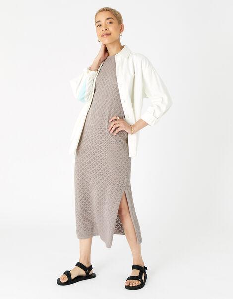Knitted Midi Dress  Cream, Cream (TAUPE), large