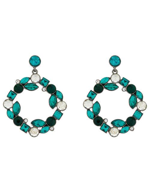 Esmeralda Gem Doorknocker Earrings, , large