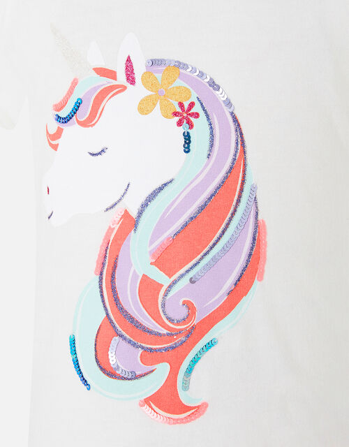 Unicorn T-Shirt, Multi (BRIGHTS-MULTI), large