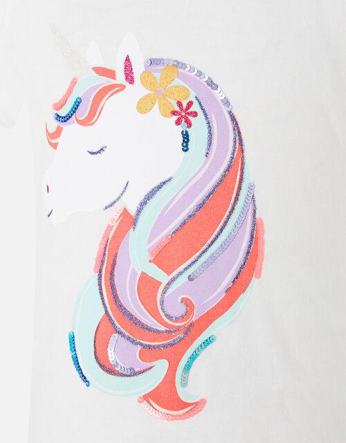 Girls Unicorn T-Shirt, Multi (BRIGHTS-MULTI), large