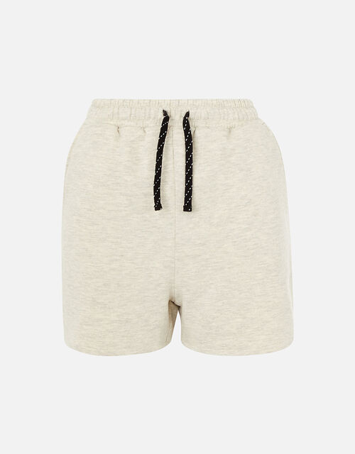 Stripe Print Jersey Shorts , Cream (TAUPE), large