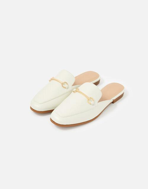 Backless Loafer, White (WHITE), large