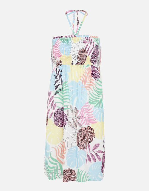 Palm Print Bandeau Dress, Multi (BRIGHTS-MULTI), large