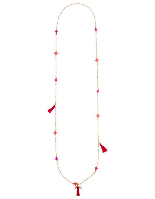 Mini Station Tassel Rope Necklace, , large