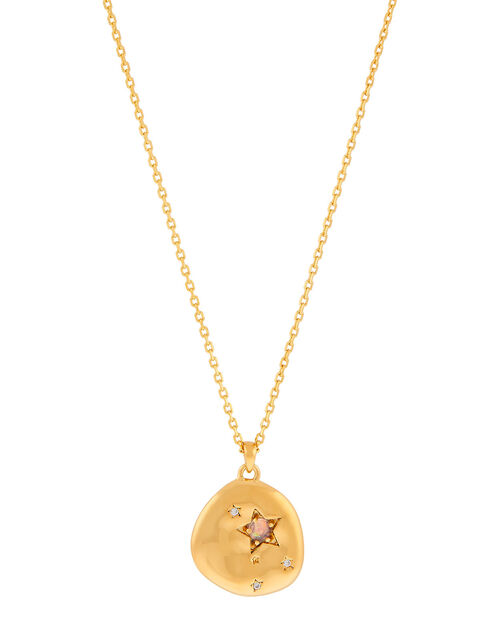 Gold-Plated Opal Zodiac Necklace - Cancer, , large