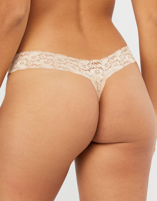 Halenka Lace Thong Multipack, Multi (ASSORTED), large