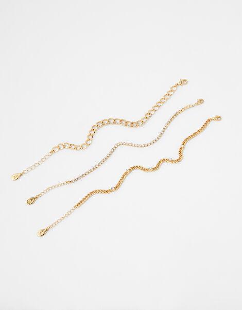 Sparkle and Curb Chain Bracelet Set, , large