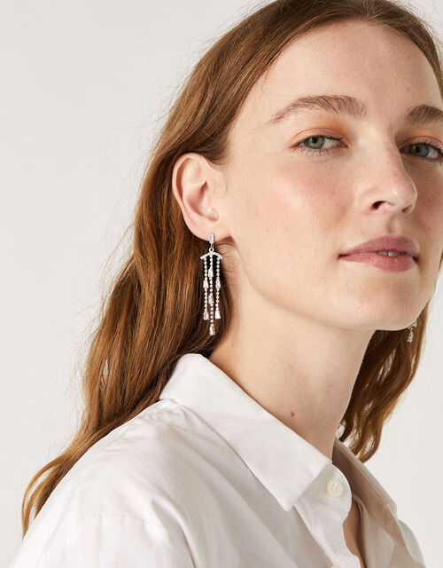 Mary-Jane Sparkle Drop Earrings, , large
