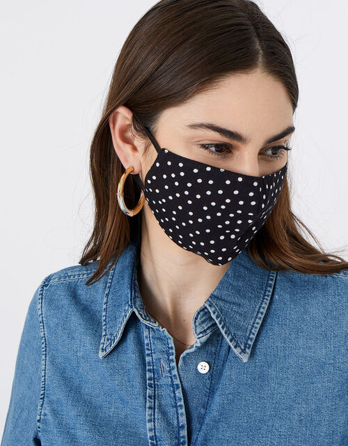 Polka Dot Face Covering, , large