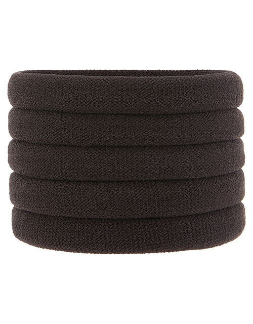Thick Towelling Hair Band Multipack, Brown (BROWN), large