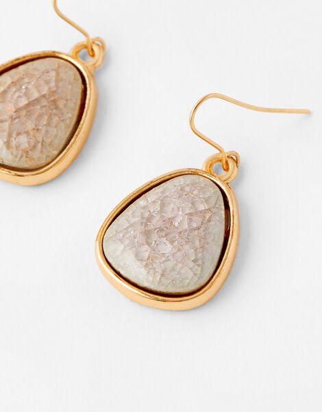 Ceramic Stone Short Drop Earrings, , large