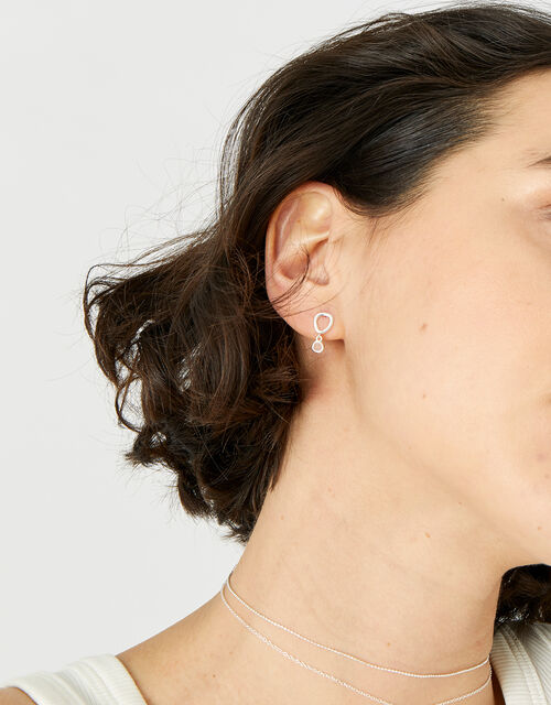 Rose Quartz Short Drop Earrings , , large