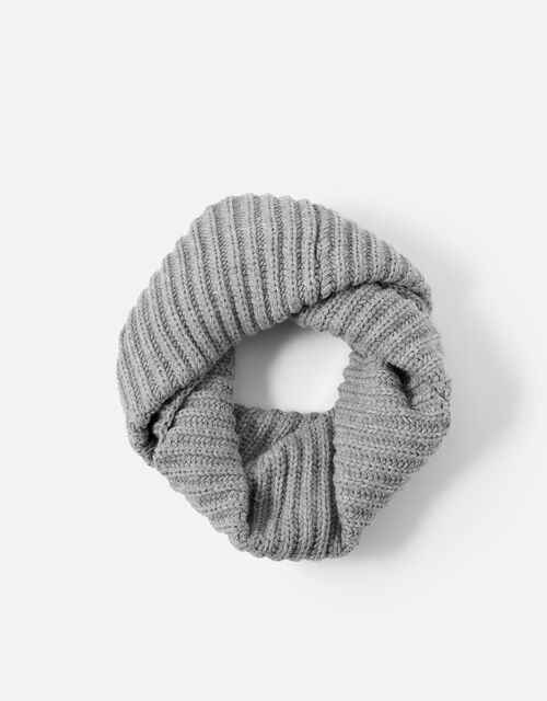 Chunky Knit Snood, Grey (LIGHT GREY), large