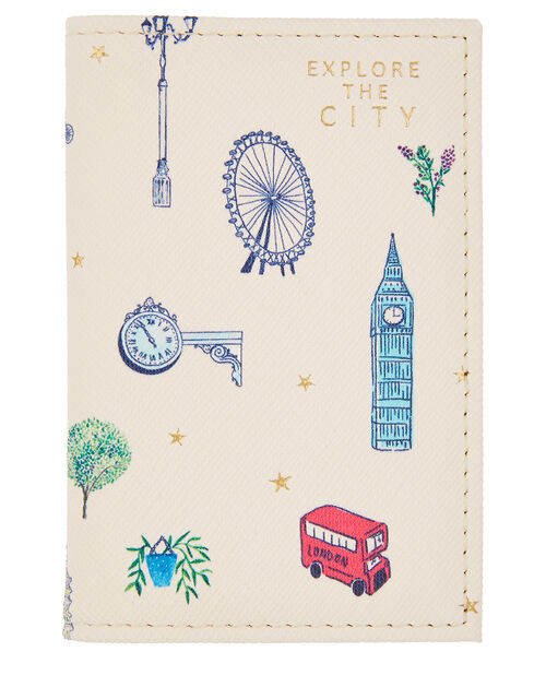 All-Over London Printed Cardholder, , large