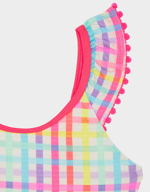 Rainbow Check Swimsuit, Multi (BRIGHTS-MULTI), large