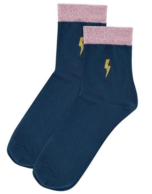 Lightning Bolt Ankle Socks, , large