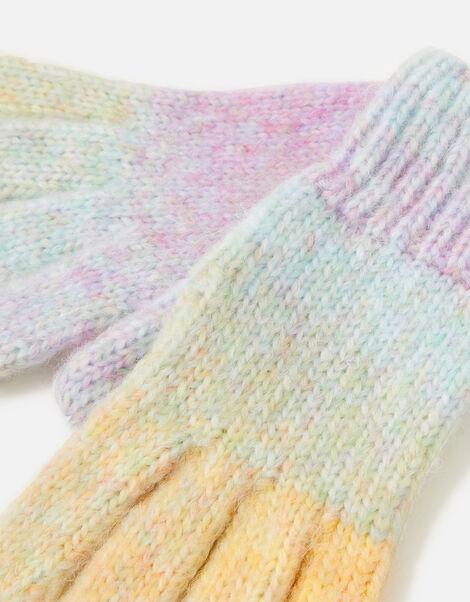 Girls Space Dye Gloves Multi, Multi (BRIGHTS-MULTI), large