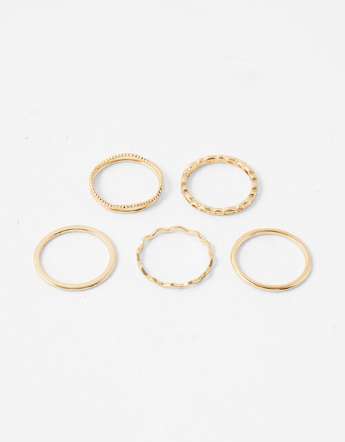 Fine Stacking Ring Set with Recycled Metal, Gold (GOLD), large