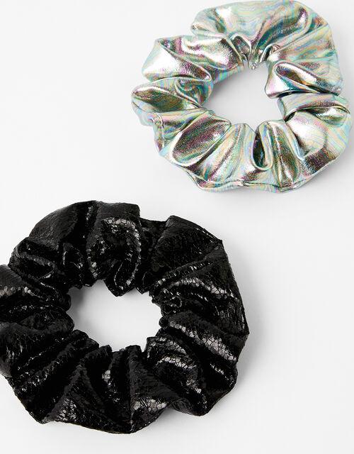 Metallic Hair Scrunchie Set, , large