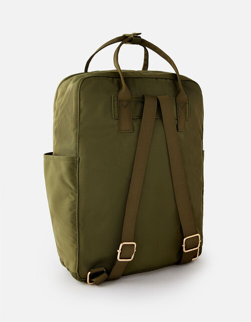 Frida Canvas Backpack , Green (KHAKI), large