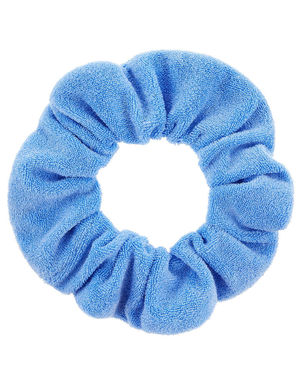 Oversized Towelling Scrunchie, Blue (BLUE), large