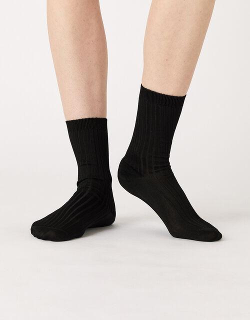 Slinky Ribbed Ankle Socks, , large