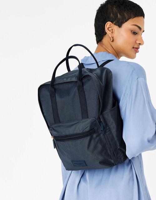 Frida Canvas Backpack , Blue (NAVY), large