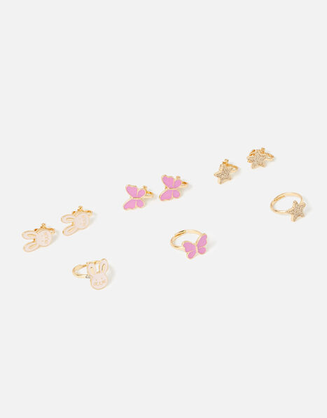 Bunny Clip-On Earring and Ring Set, , large