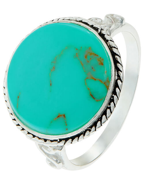 Sterling Silver Turquoise Statement Ring, Blue (TURQUOISE), large