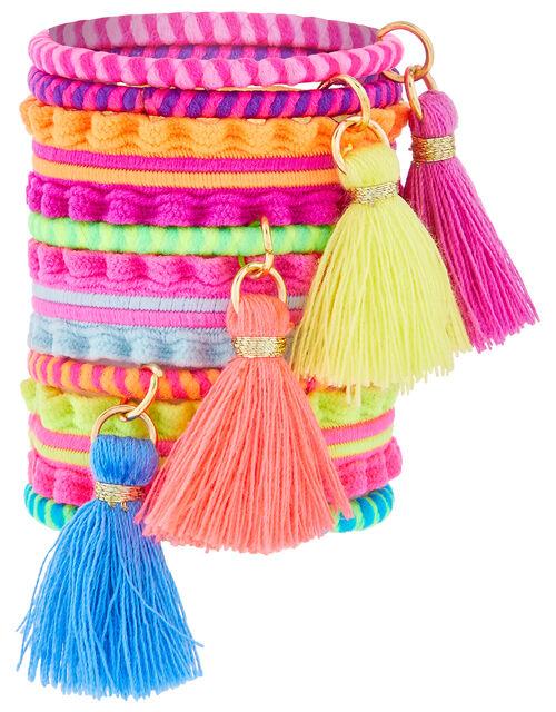 Itsy Bitsy Tassel Colourful Hair Band Set, , large