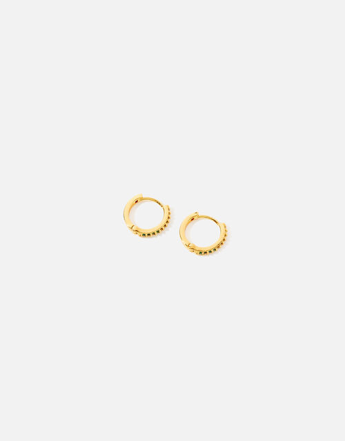 Gold-Plated Ombre Huggie Hoops, , large