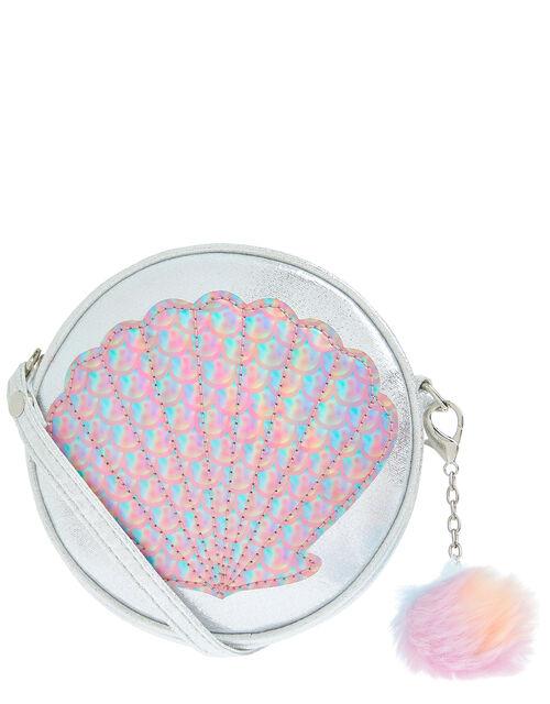 Mermaid Shell Round Cross-Body Bag, , large
